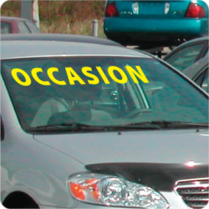 DECAL - WINDSHIELD MESSAGE