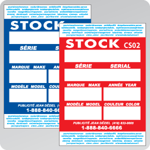 STOCK CARD - WINDSHIELD