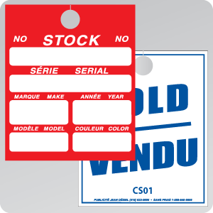 STOCK CARD - REARVIEW MIRROR